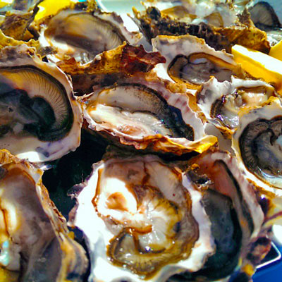 Oysters are full of zinc - great for healthy hair