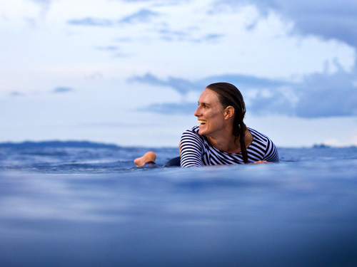 Danielle Clayton from Salt Gypsy rips in the surf