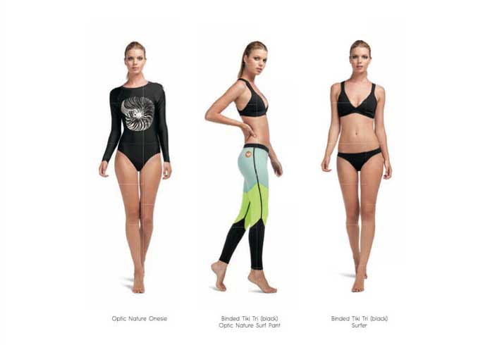 Roxy Pop Surf Collection of surfing bikinis and wetsuits