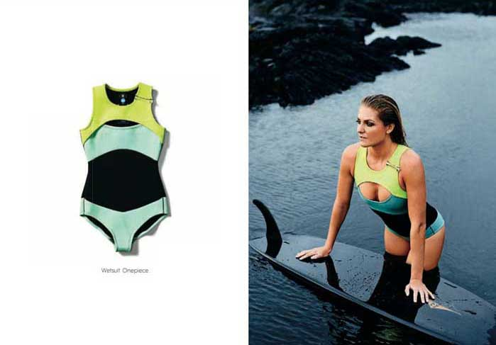 Sexy wetsuit for surfing from Roxy. Modelled by professional surf Stephanie Gilmore