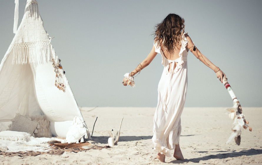 White backless beach dress - Spell & The Gypsy