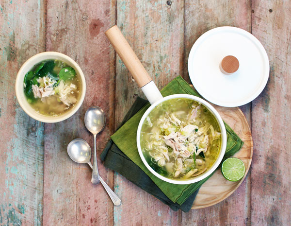 Healthy chicken soup. Photo courtesy of Woolworths Australia