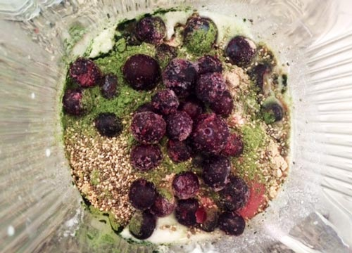 High protein diet - a great post work out smoothie
