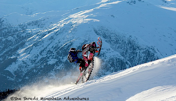 Brappppp. Photo courtesy of Julie-Ann at She Shreds Mountain Adventures