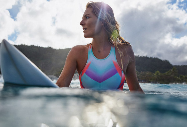 Stephanie Gilmore in Roxy Pop surf collection