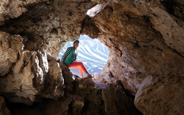 Cave in the andes