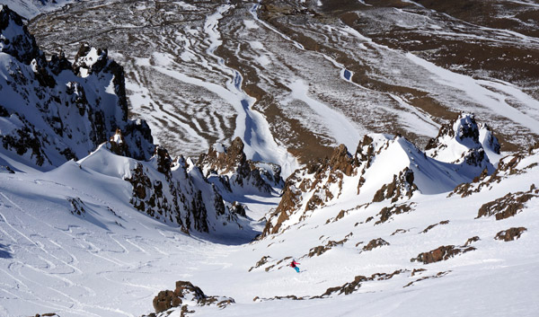 Couloir skiing argentina