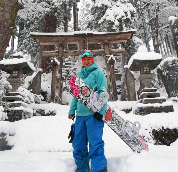 Japanese temples and powder skiing
