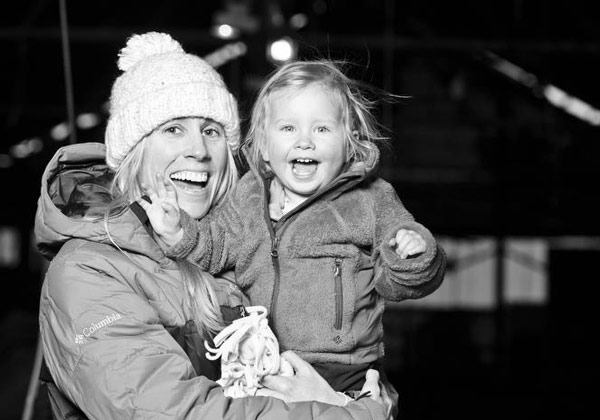 Jessica Sobolowski-Quinn and Kinley, owner of Points North Heli Adventures Alaska