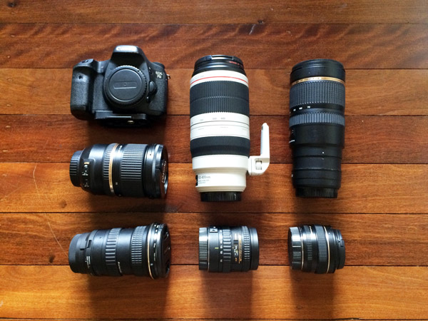 Surf photography camera gear the professionals use. This is the Canon camera gear Fran Miller uses.