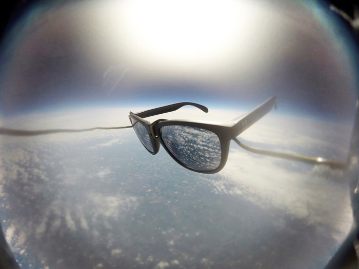 SunGod sunglasses in space!
