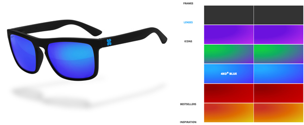 Fully customisable sunglasses from SunGod