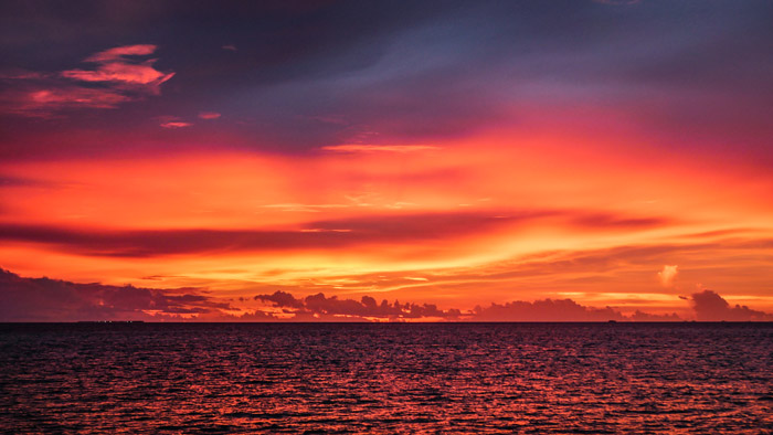 Sunsets in the Maldives