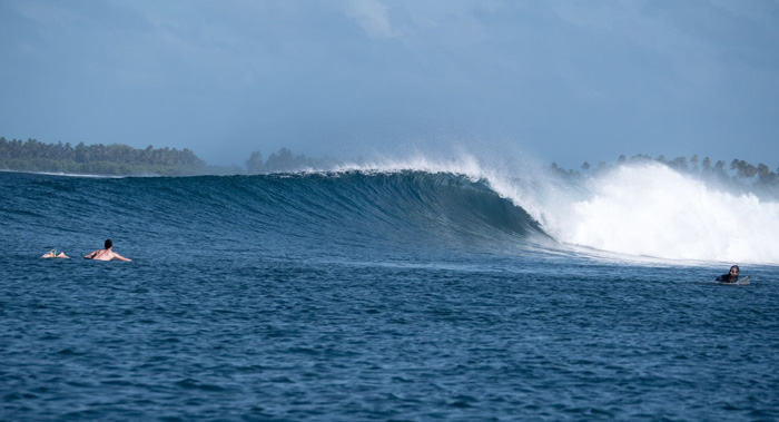 Surfing in the Maldives - perfect waves