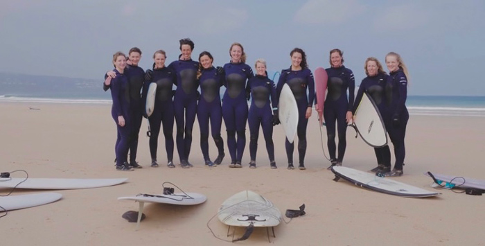 Surfing crew for winter in Cornwall Engalnd