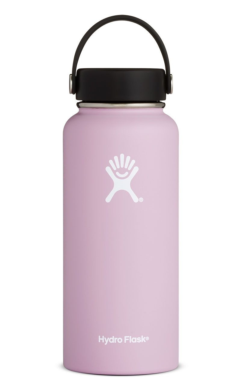 Hydro Flask stainless steel water bottle in the new Lilac color