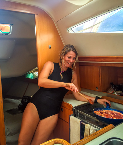 Cooking under sail