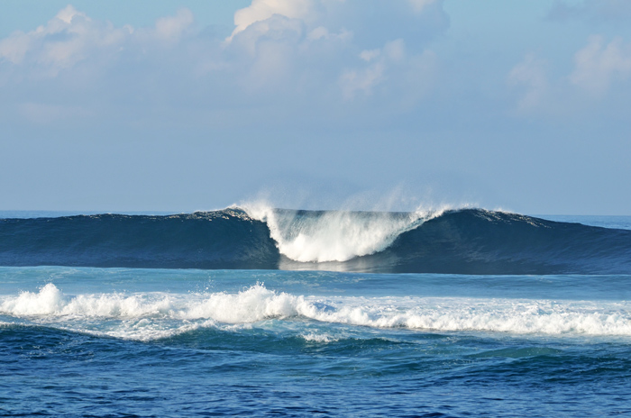 Surfing in the Galapagos
