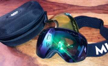 Messy weekend snow goggles