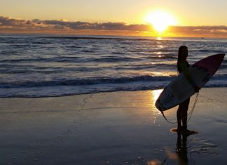 Dont be scared to paddle out, the best surfing is out there