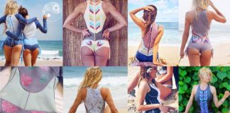 Colourful sexy wetsuits from sirensong westuits. Handmade from Hawaii