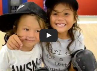 Sky and ocean are the cutest skateboard kids you've ever seen