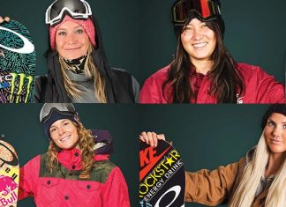 The snowboards, stance and angles of the top women pro snowboarders