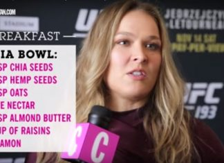 Rhonda Rousey diet in one day