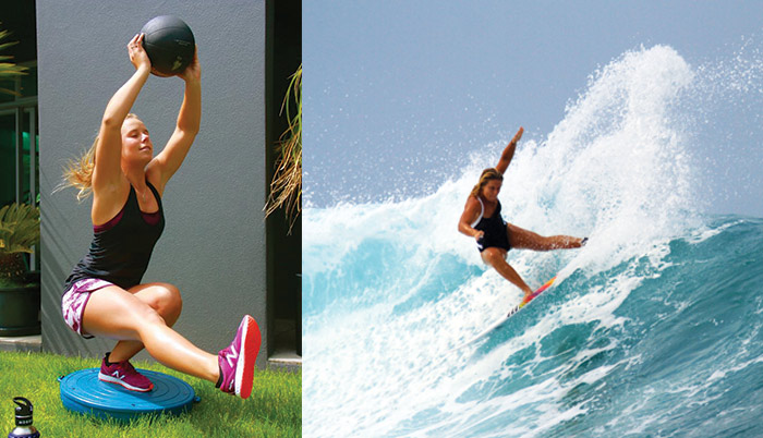 Surf fitness with Paige Hareb