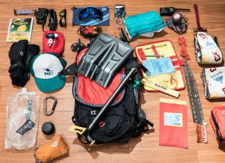 What is in my backcountry pack for skiing or snowboarding