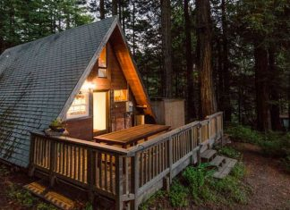 Simple living in a cabin n the woods