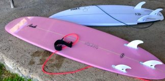 his and hers surfboards